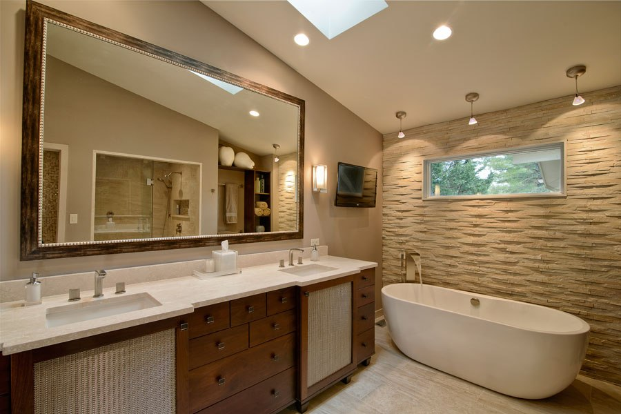 Bathroom remodeling in tampa skyline construction for Bath remodel before and after pictures
